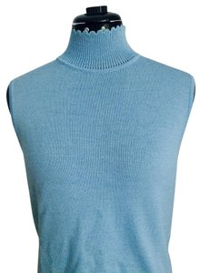St. John Sport by Marie Gray Knit Top Light Blue
