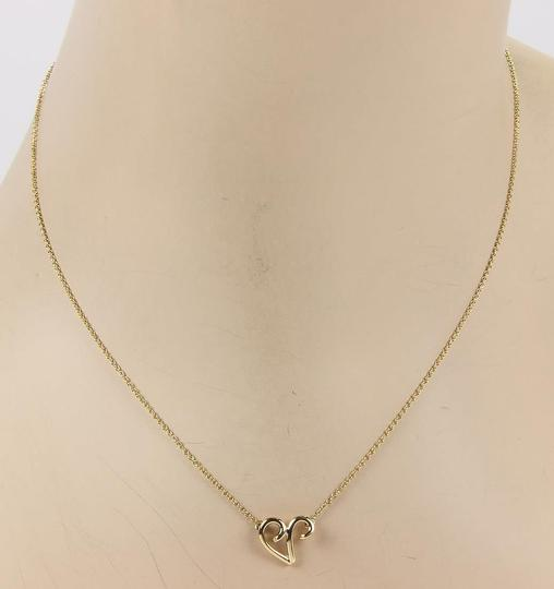 Tiffany & Co. Picasso 18K Yellow Gold Freeform Heart Pendant Necklace