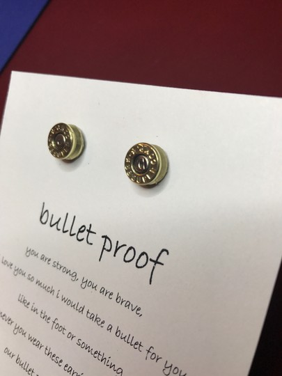 Sassy Classy Jewelry Bullet Earrings Best Friend Jewelry Gift Funny Ammo Studs Shooting Gun