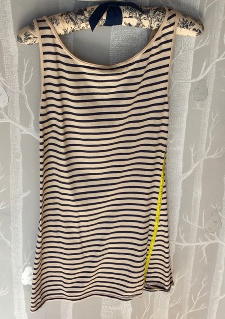 Oonagh by Nanette Lepore Navy Stripes Stripes Top Blue & White