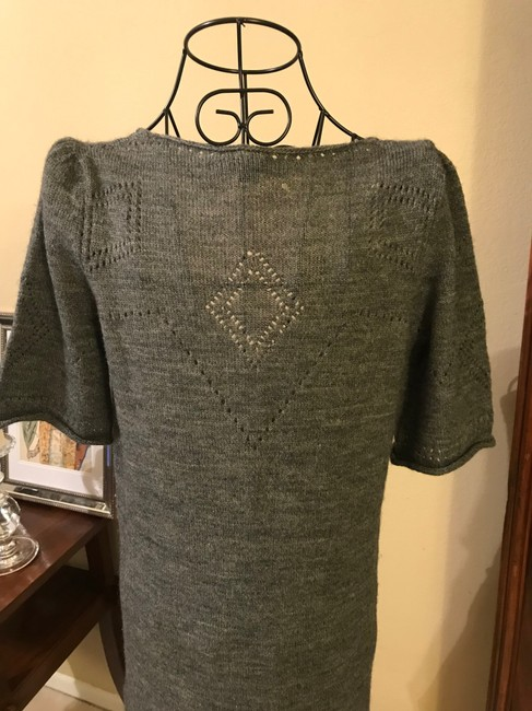 See by Chloé short dress Grey Sweater Light Weight Deep V Neck Extra Long Sweater on Tradesy