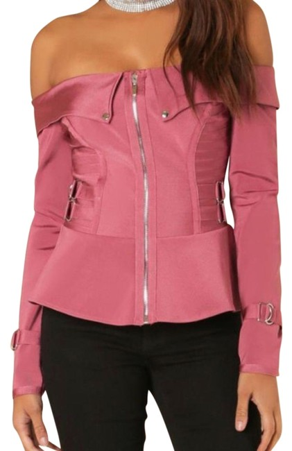 Preload https://img-static.tradesy.com/item/22307860/wow-couture-pink-bandage-jacket-size-14-l-0-1-650-650.jpg