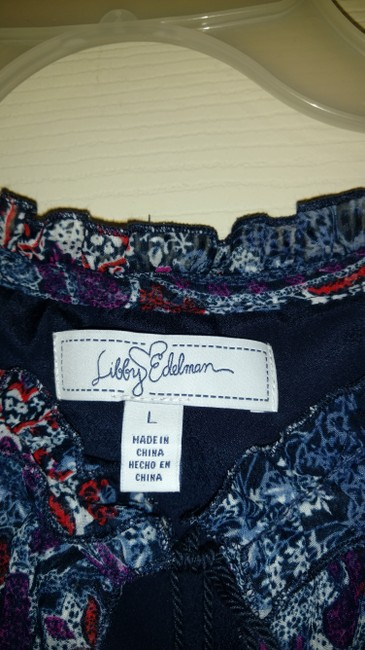 Libby Edelman short dress Multi Colored Lined Cold Shoulder Paisley on Tradesy