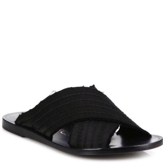 Pedro Garcia Zissi Satin Silk Black Sandals
