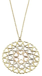 Tiffany & Co. Picasso Crown Of Hearts 18k Tri-Color Gold Medallion Pendant Necklace