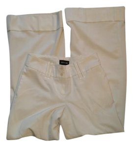 Focus 2000 Wide Leg Lined Wide Belt Loops Cuffed Trouser Pants Off white