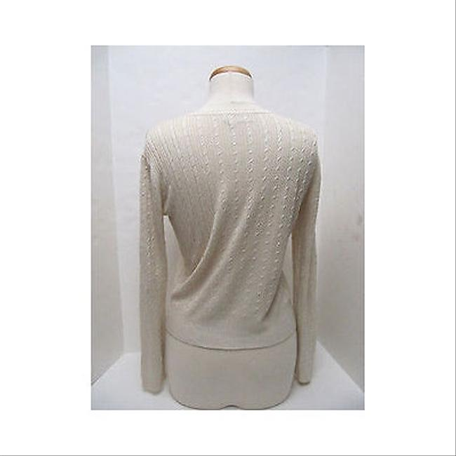 Lord & Taylor Exclusively For You Cream Cardigan Sweater