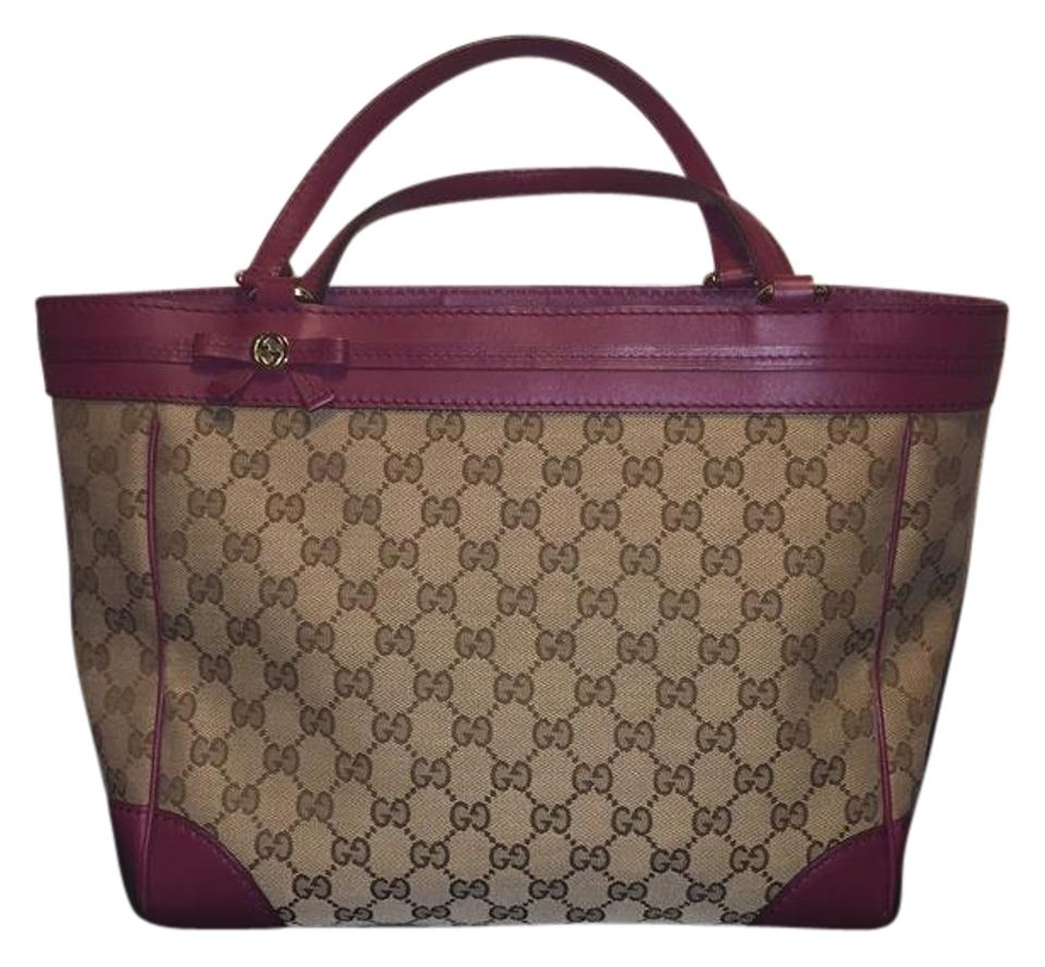 fb9f59addead Gucci Bag Mayfair Bow Magenta Canvas/Leather Tote - Tradesy