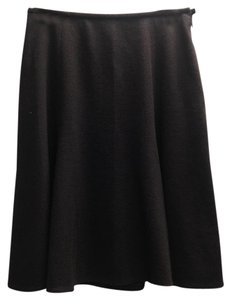 Calvin Klein Collection Wool Flare Skirt brown