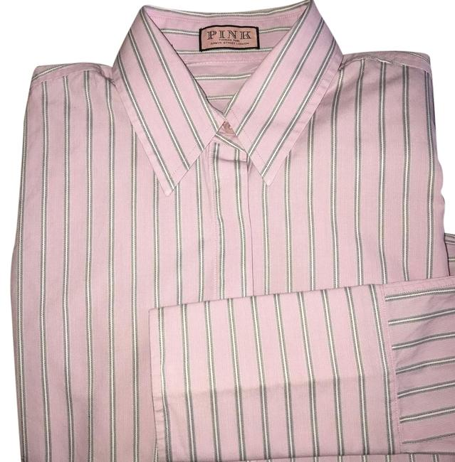 Item - Striped Fitted Button-down Top Size 2 (XS)