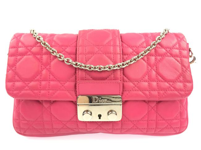 Item - Small Miss Flap Pink Lambskin Leather Shoulder Bag