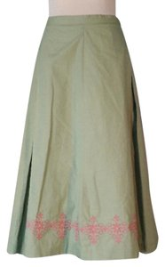 Anthropologie Skirt Green, pink