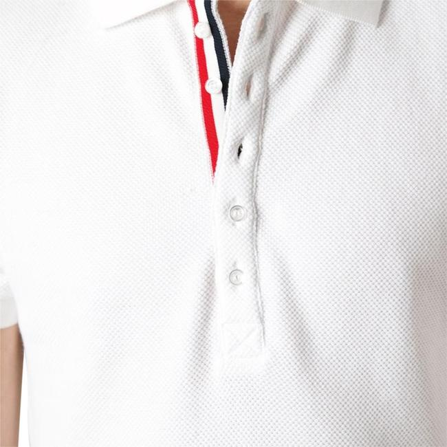 Item - White Blue Red Classic Polo Button-down Top Size 8 (M)
