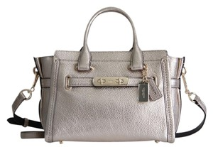 Coach Swagger Carryall 27 Satchel in Platinum