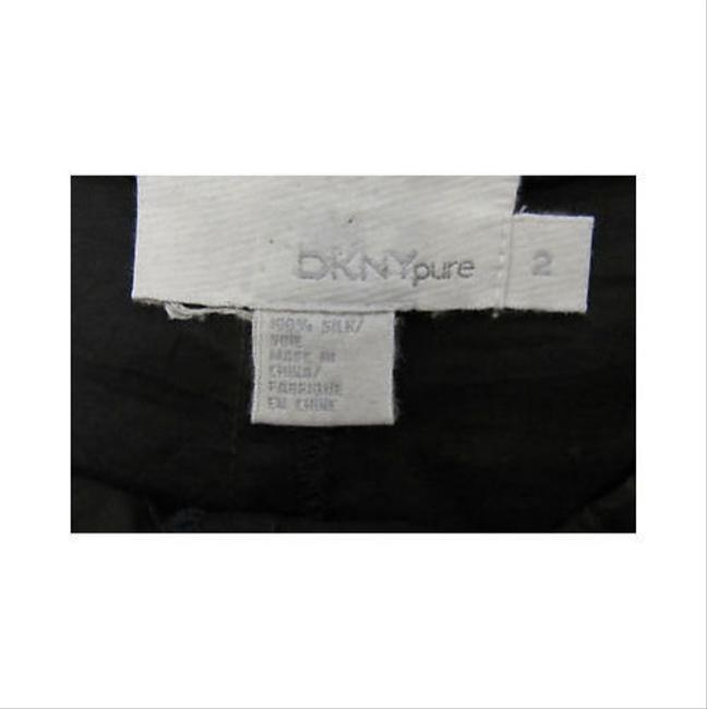 DKNY Brown Bronze 100 Silk Capris With Drawstring Waist Capri/Cropped Pants Metallics