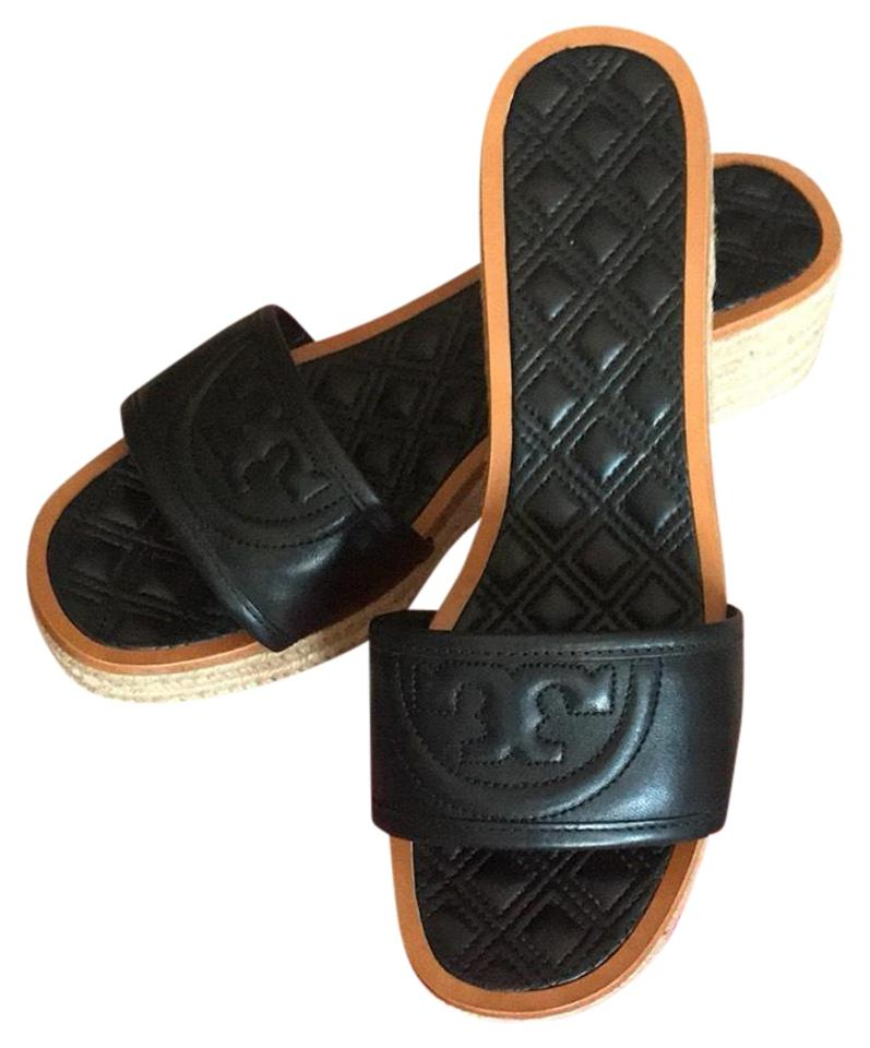 Tory Burch Fleming Black Fleming Burch Espadrille Sandals Mules/Slides ca0886
