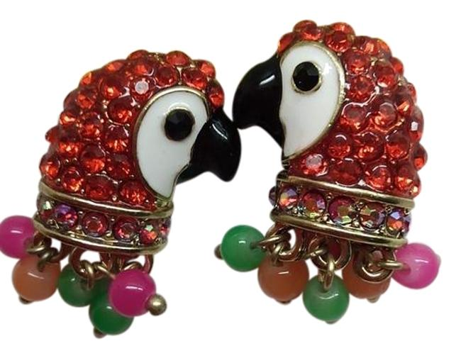 Item - Red and Gold Parrot Earrings
