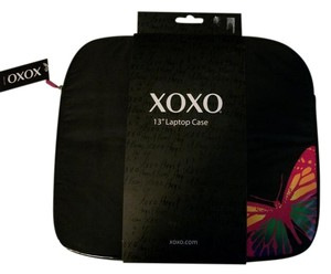 XOXO Black With Colorful Butterfly XOXO 13 Inch Laptop Case