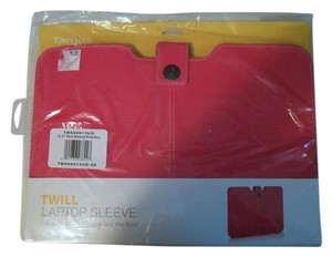 Targus Dark Pink 13.3 Inch Twill Sleeve For UltraBook & MacBooks Laptops