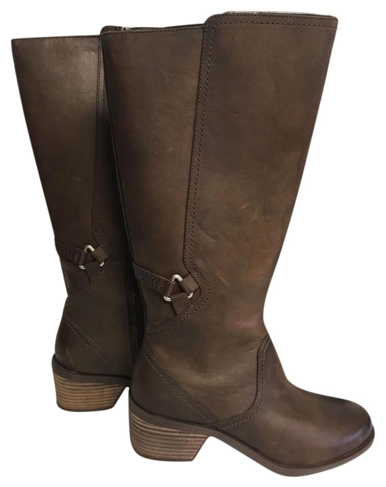 cef136c9c Teva Brown Foxy Women s Tall Leather Multiple Boots Booties Size US ...