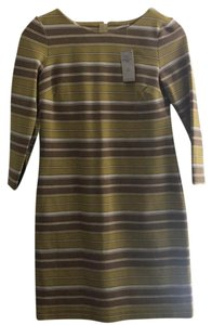 Banana Republic short dress Yellow Brown White on Tradesy