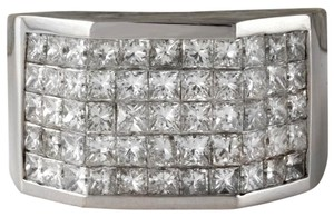 Other HEAVY 5.65Ct Natural Diamond 14K Solid White Gold Men's Ring