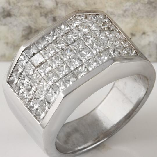 Other HEAVY 5.65Ct Natural Diamond 14K Solid White Gold Men's Ring Image 3