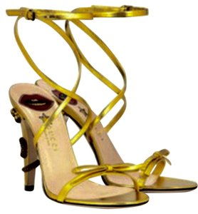 Gucci gold metallic Sandals