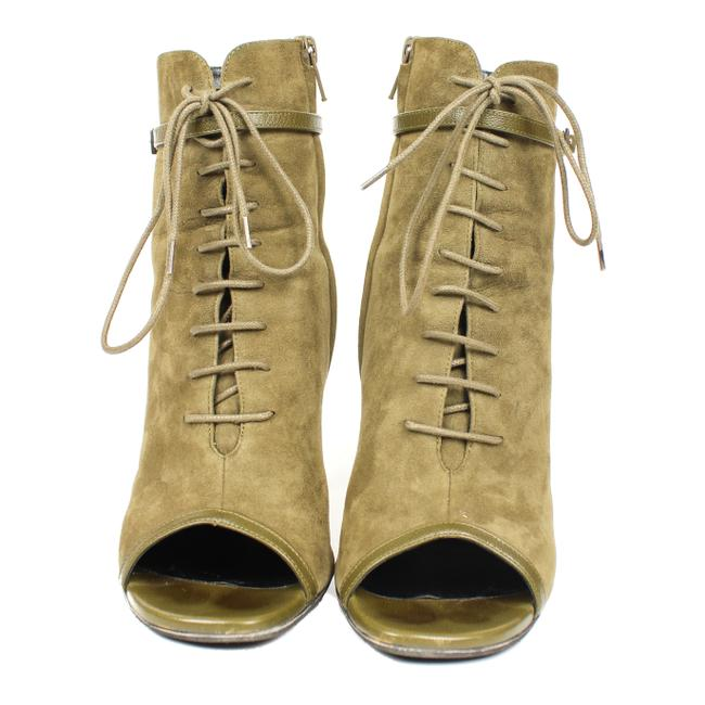 Item - Olive - Suede Lace-up Boots/Booties Size US 8 Regular (M, B)