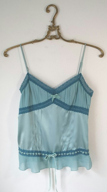bebe Turquoise Silk 4 Camisole Under 10 Top Blue