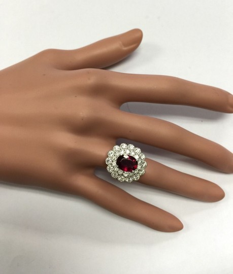 Other 4.00 Carats NATURAL Tourmaline and DIAMOND 14K White Gold Ring Image 10