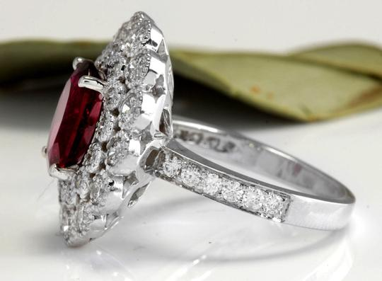 Other 4.00 Carats NATURAL Tourmaline and DIAMOND 14K White Gold Ring Image 2