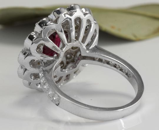 Other 4.00 Carats NATURAL Tourmaline and DIAMOND 14K White Gold Ring Image 3