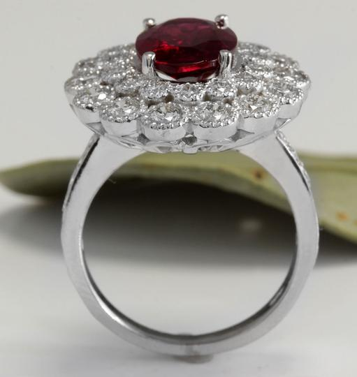 Other 4.00 Carats NATURAL Tourmaline and DIAMOND 14K White Gold Ring Image 4