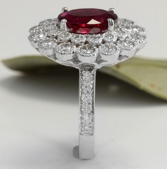 Other 4.00 Carats NATURAL Tourmaline and DIAMOND 14K White Gold Ring Image 5