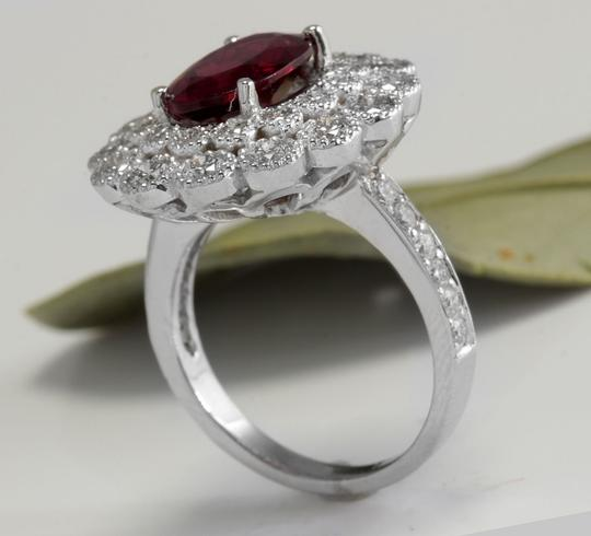 Other 4.00 Carats NATURAL Tourmaline and DIAMOND 14K White Gold Ring Image 6