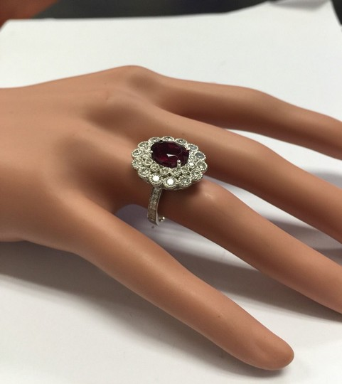 Other 4.00 Carats NATURAL Tourmaline and DIAMOND 14K White Gold Ring Image 8