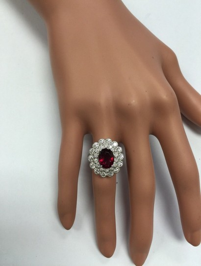 Other 4.00 Carats NATURAL Tourmaline and DIAMOND 14K White Gold Ring Image 9