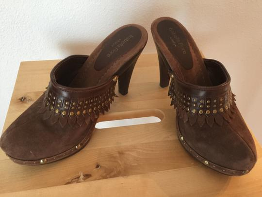 Isabella Fiore Brown Mules Image 1