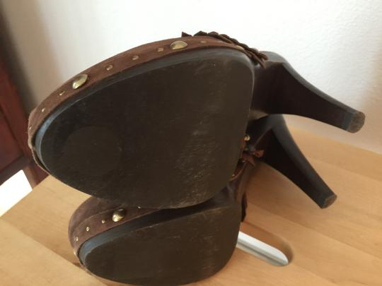 Isabella Fiore Brown Mules Image 3