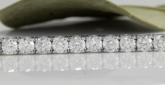 Other 4.15 Carat Natural VS Diamond 14K White Gold Bracelet Image 1