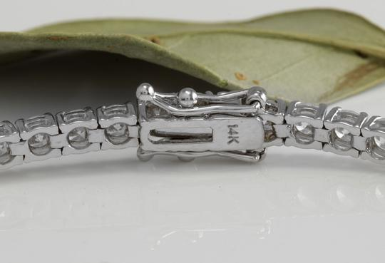 Other 4.15 Carat Natural VS Diamond 14K White Gold Bracelet Image 3
