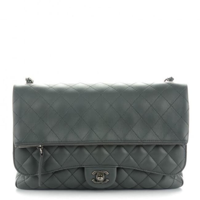 Item - Classic Flap Quilted Multi Dark Grey Lambskin Leather Shoulder Bag