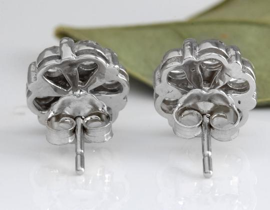 Other 1.25Ct Natural Diamond 14k Solid White Gold Earrings Image 3