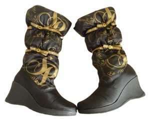 South Pole Collection Black and Gold Boots