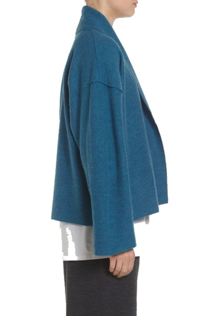 Eileen Fisher Unstructured Optional Pin Closure Front Patch Pockets Shawl Collar Dropped Shoulders Cardigan Image 10