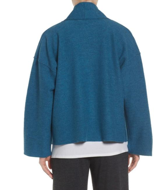 Eileen Fisher Unstructured Optional Pin Closure Front Patch Pockets Shawl Collar Dropped Shoulders Cardigan Image 11