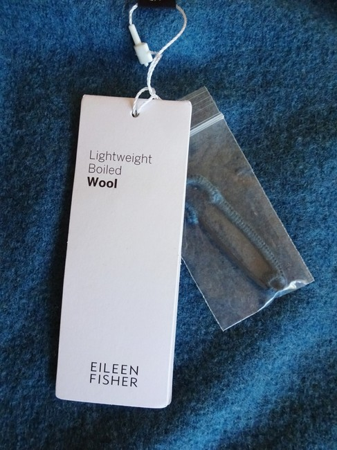 Eileen Fisher Unstructured Optional Pin Closure Front Patch Pockets Shawl Collar Dropped Shoulders Cardigan Image 2