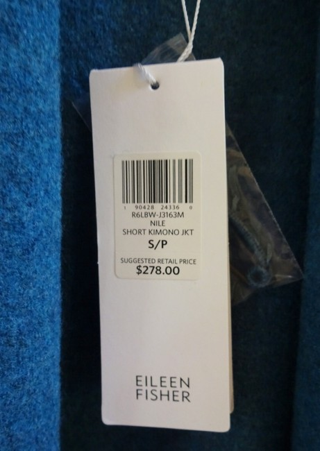 Eileen Fisher Unstructured Optional Pin Closure Front Patch Pockets Shawl Collar Dropped Shoulders Cardigan Image 3