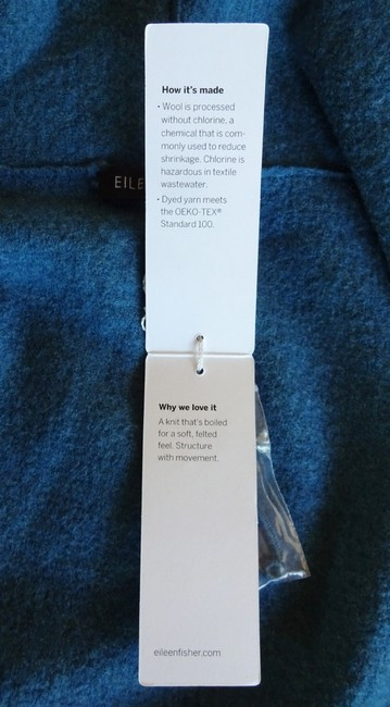 Eileen Fisher Unstructured Optional Pin Closure Front Patch Pockets Shawl Collar Dropped Shoulders Cardigan Image 5